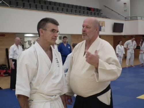 Toby Threadgill et Robert Mustard, deux sensei d'exception (photo Phil Eyers)